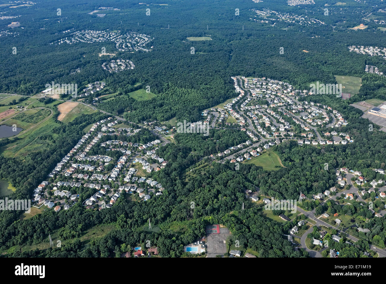 Suburbia Housing Tracts, Monmouth County, NJ - Stock Image