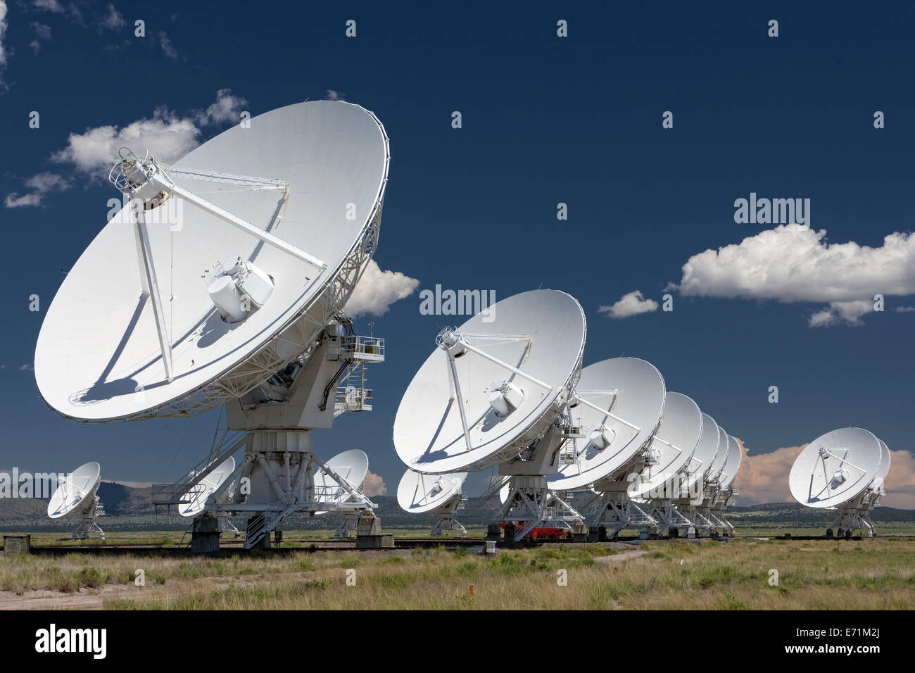 The VLA - Very Large Array - Radio Telescope in Socorro, New Mexico - Stock Image