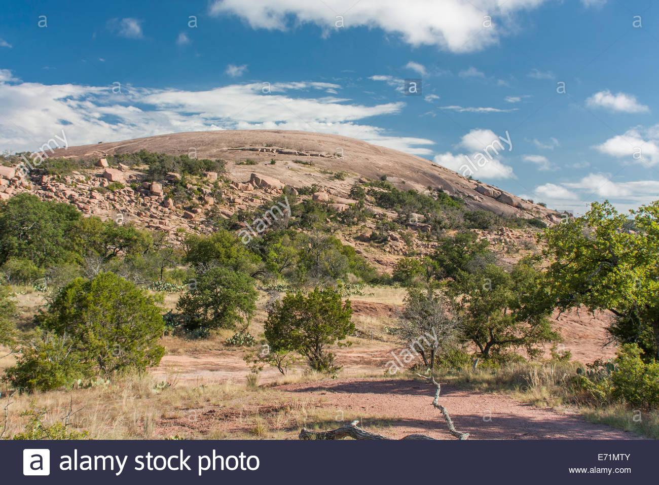 A Landscape image of Enchanted Rock near Fredericksburg, Texas - Stock Image