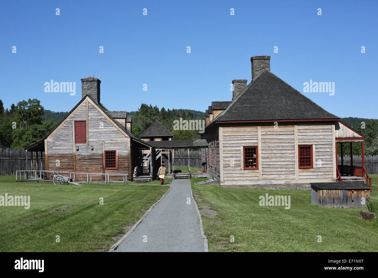 The Heritage Center at Grand Portage National Monument in Minnesota. - Stock Image