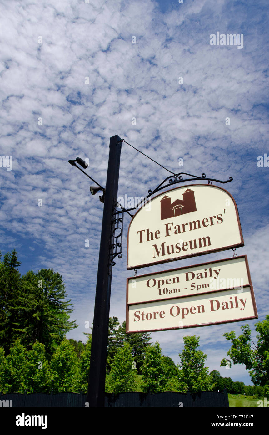 USA, New York, Cooperstown, Farmers' Museum. Open-air museum depicting the rural history of New York State. - Stock Image