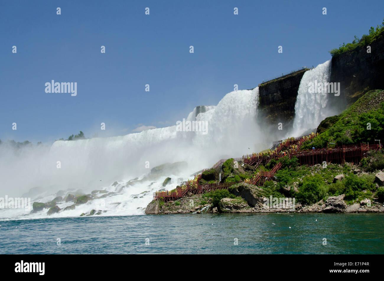 Usa New York Canada Ontario Niagara Falls Usa Side