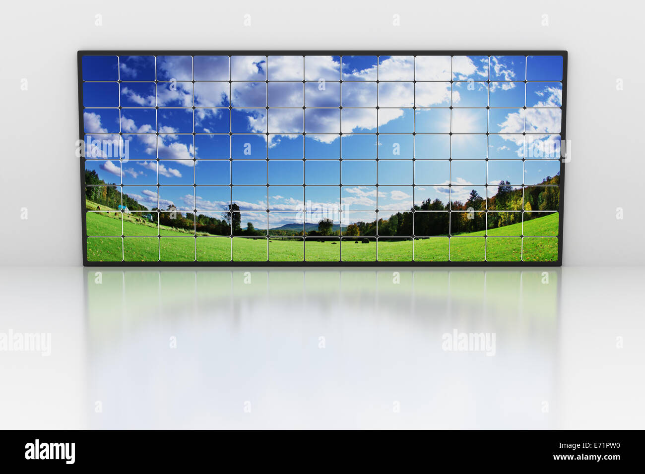 Wall of screens - Stock Image