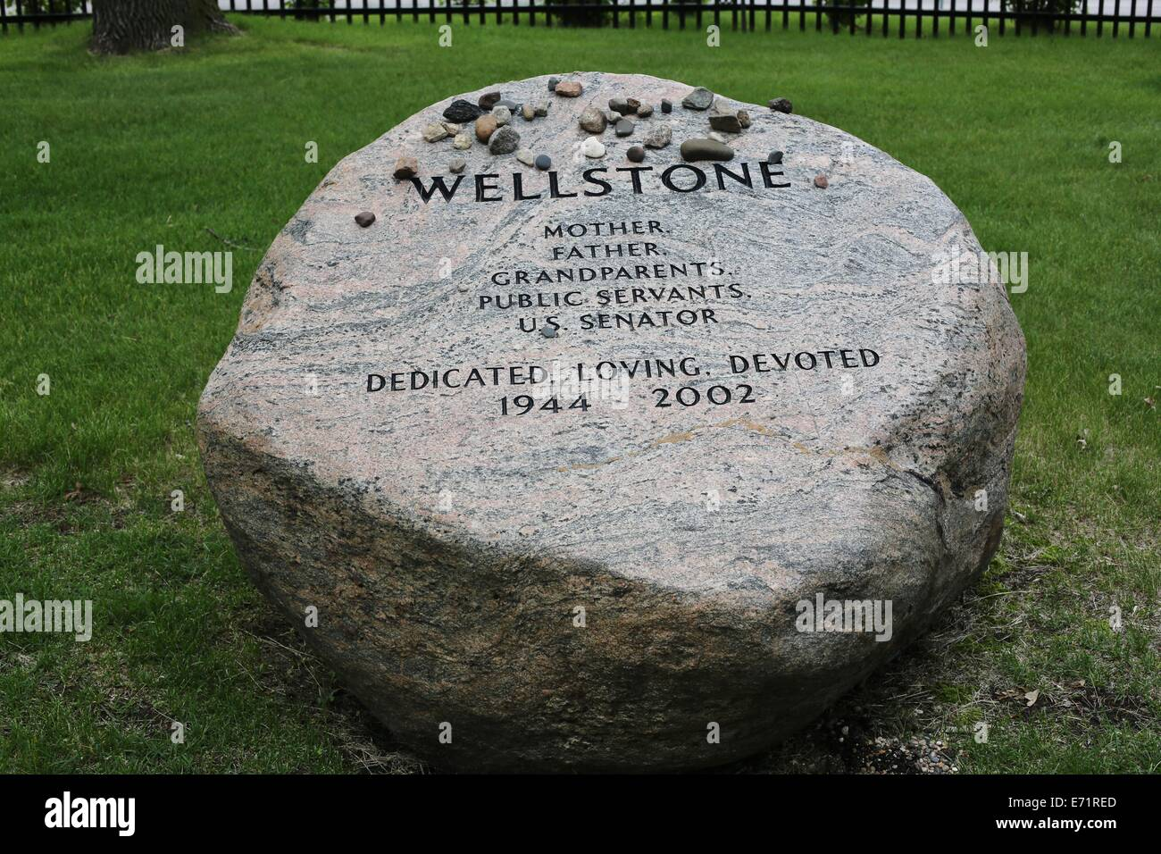 The Wellstone Family Memorial Marker At Lakewood Cemetery In