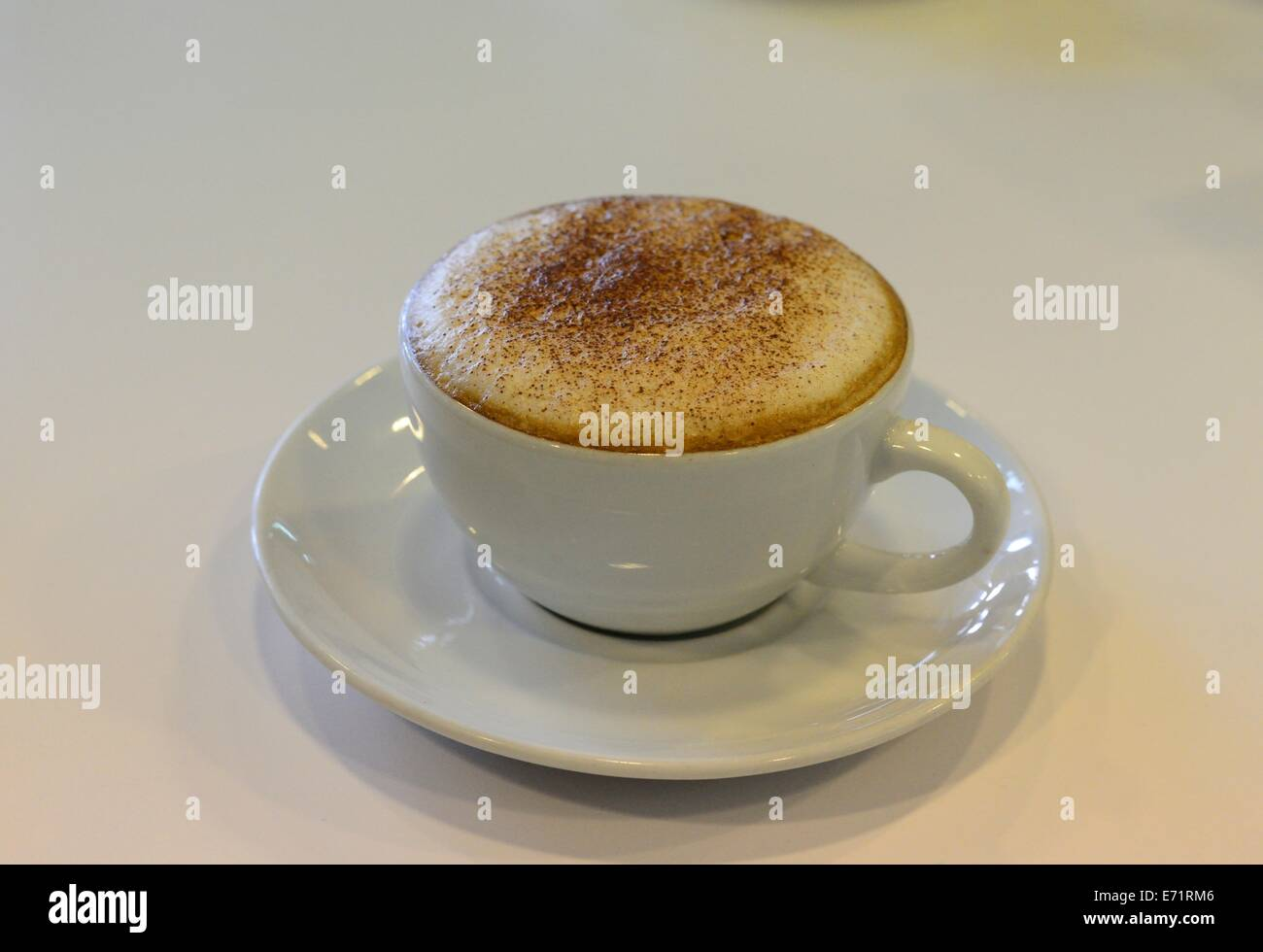 Coffee Cappuccino cup - Stock Image
