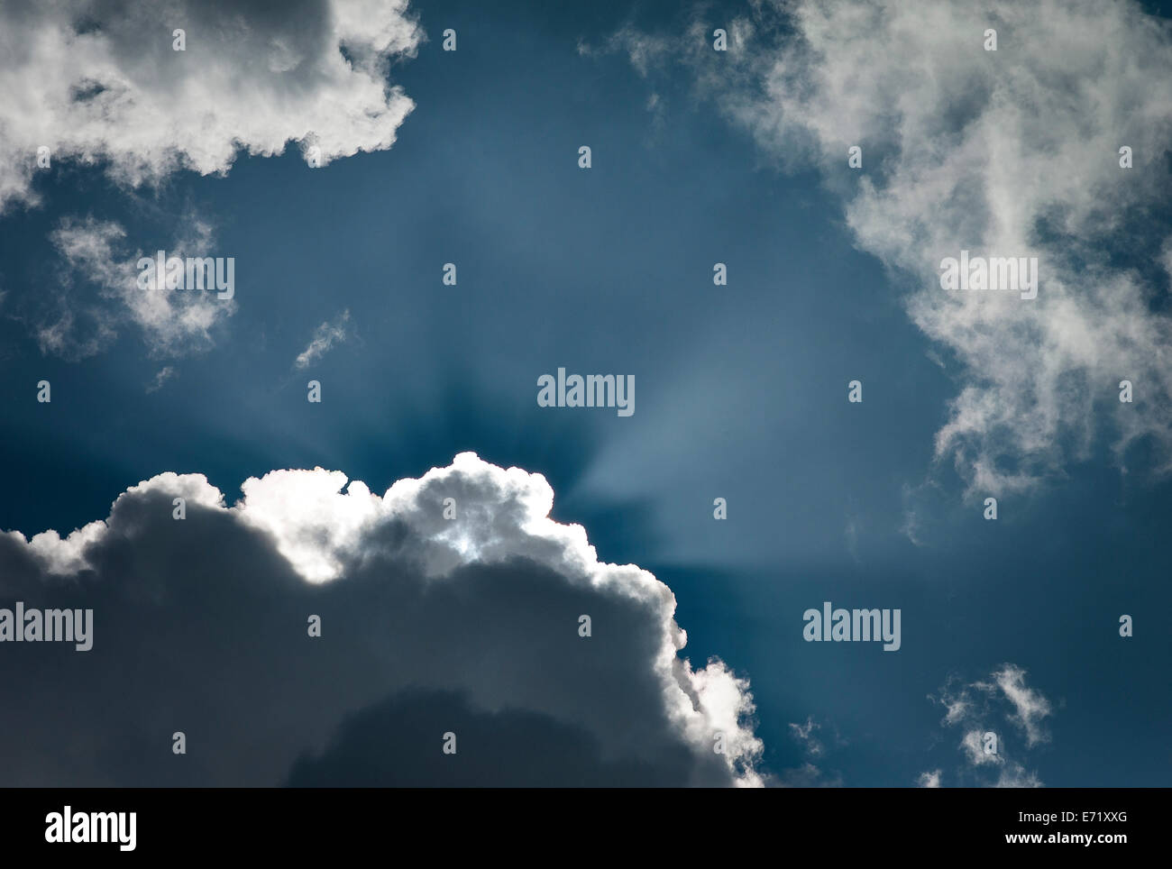 Dramatic lighting sky and clouds - Stock Image