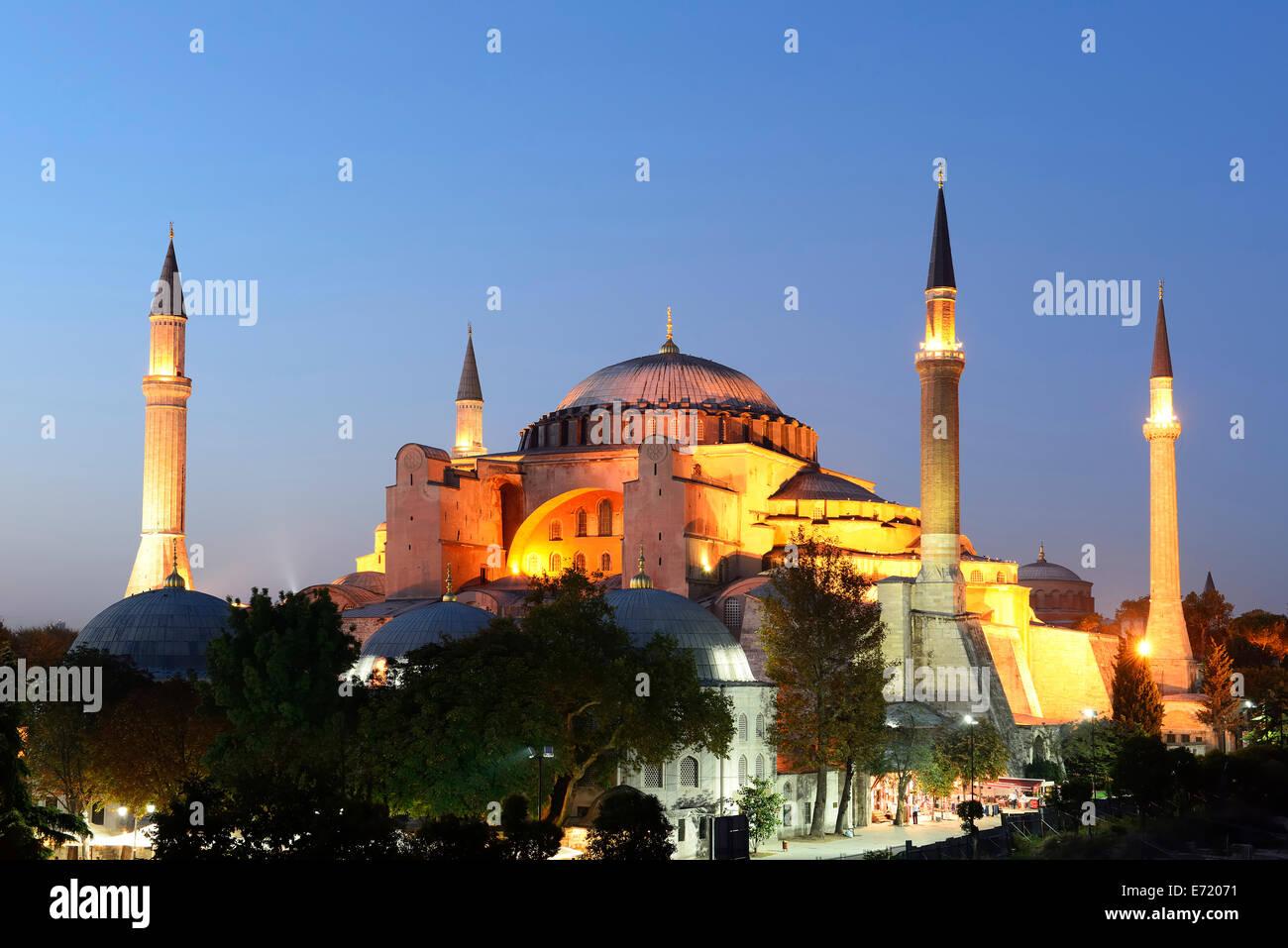 Hagia Sophia, Ayasofya, UNESCO World Heritage Site, European side, Istanbul, Turkey Stock Photo