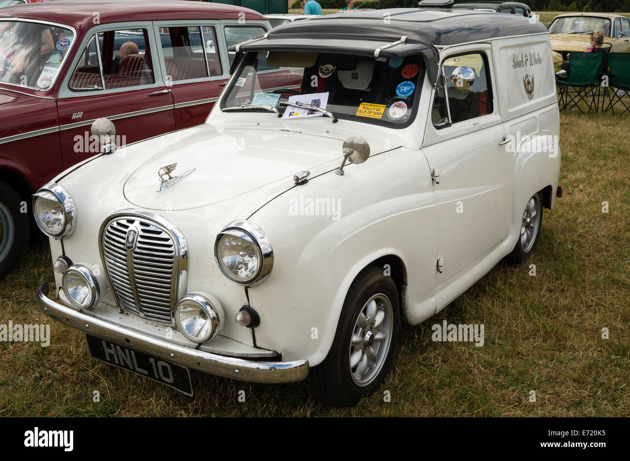 1950s Austin A35 5 cwt commercial van used by the inspctor of Black & White coaches - Stock Image