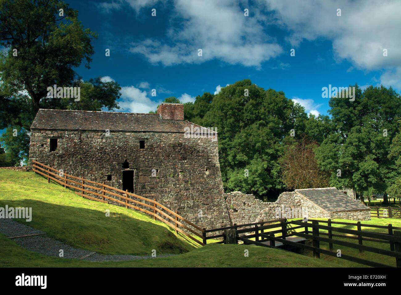 The Bonawe Iron Furnace Wheel Pit, Argyll & Bute - Stock Image