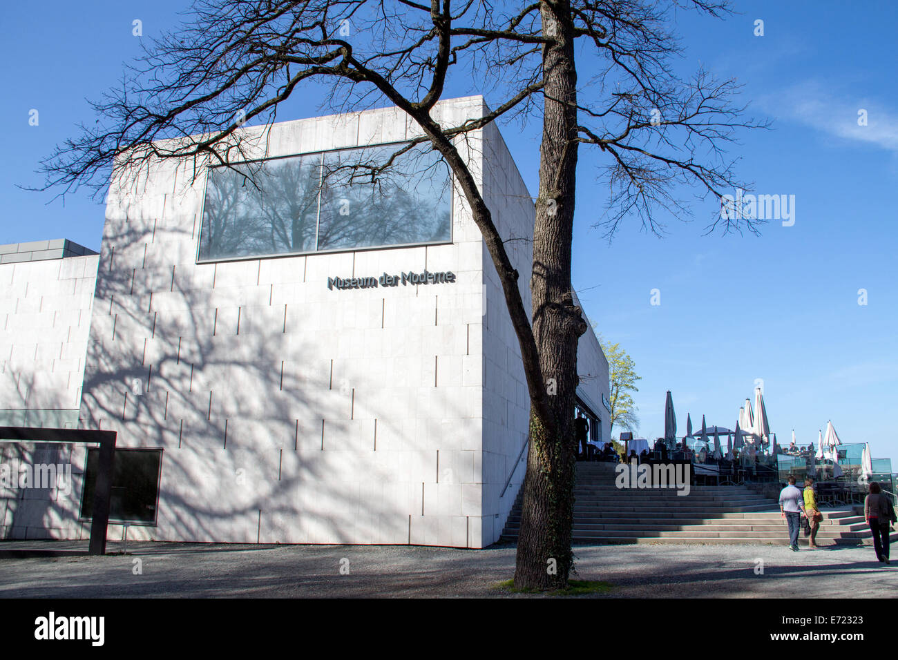 Austria: New building of Museum der Moderne Salzburg (Museum of Modern Art)  Photo from 30 March 2014. Stock Photo