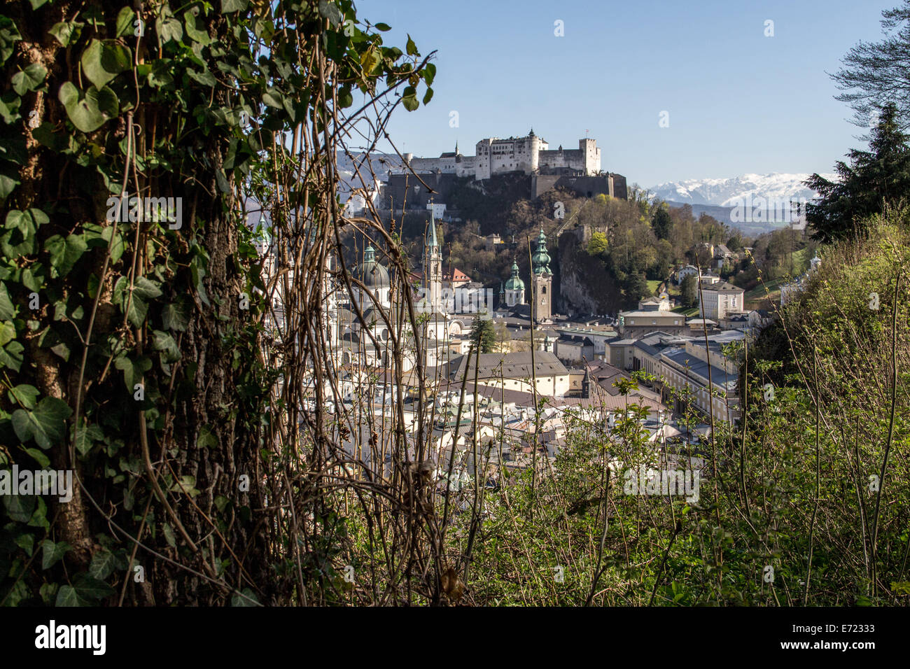 Austria: Historic Centre of the City of Salzburg. Photo from 30 March 2014. - Stock Image