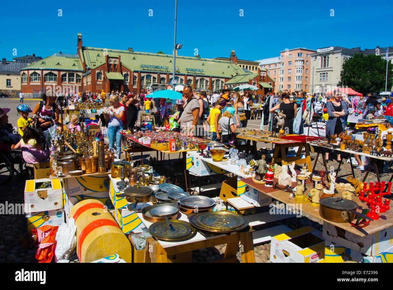 Flea market, Hietalahden tori, Hietalahti market square ...