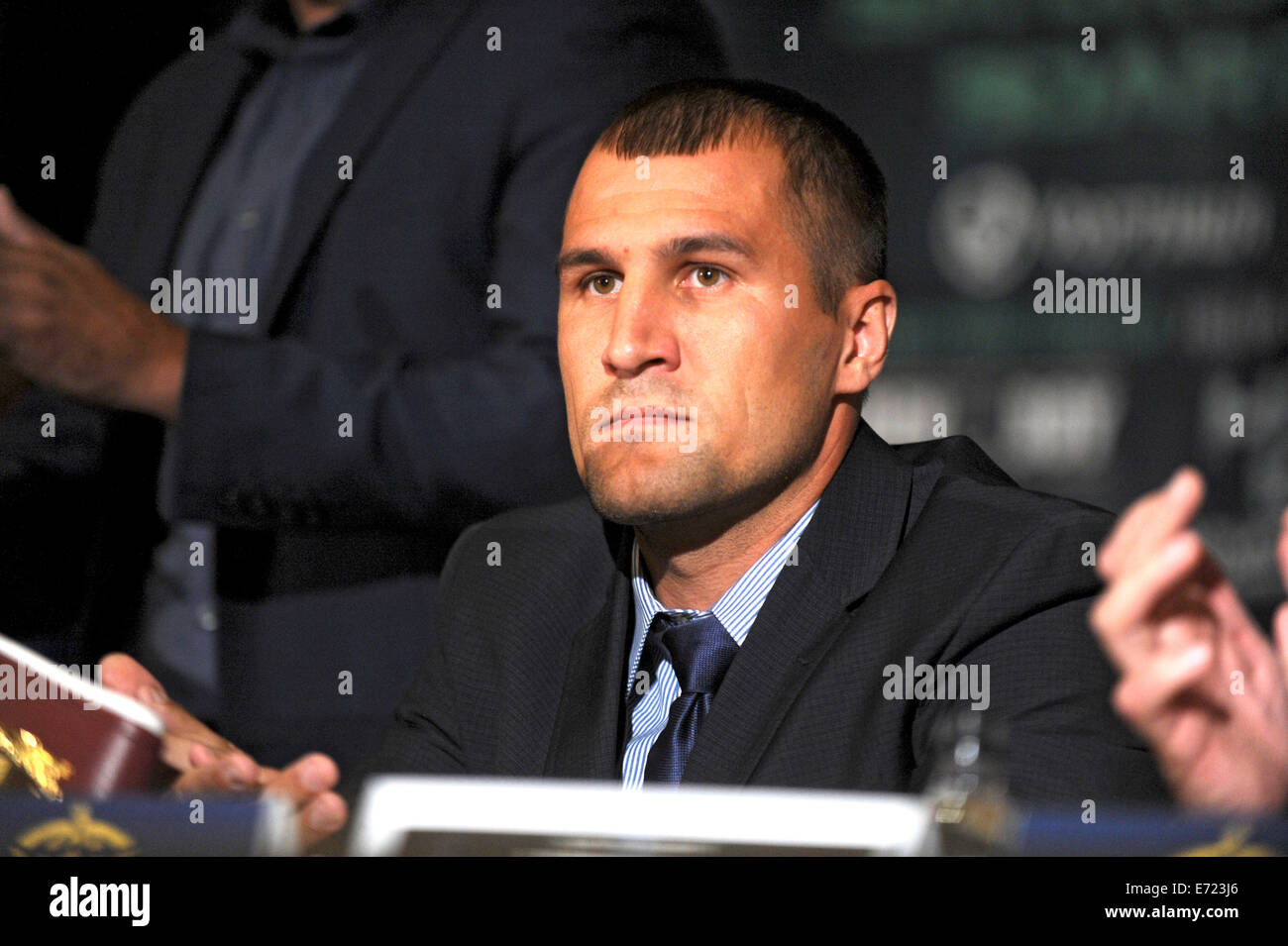 Sergey Kovalev during a press conference at the Waldorf-Astoria hotel to promote a planned Saturday, Nov. 8, 12 Stock Photo