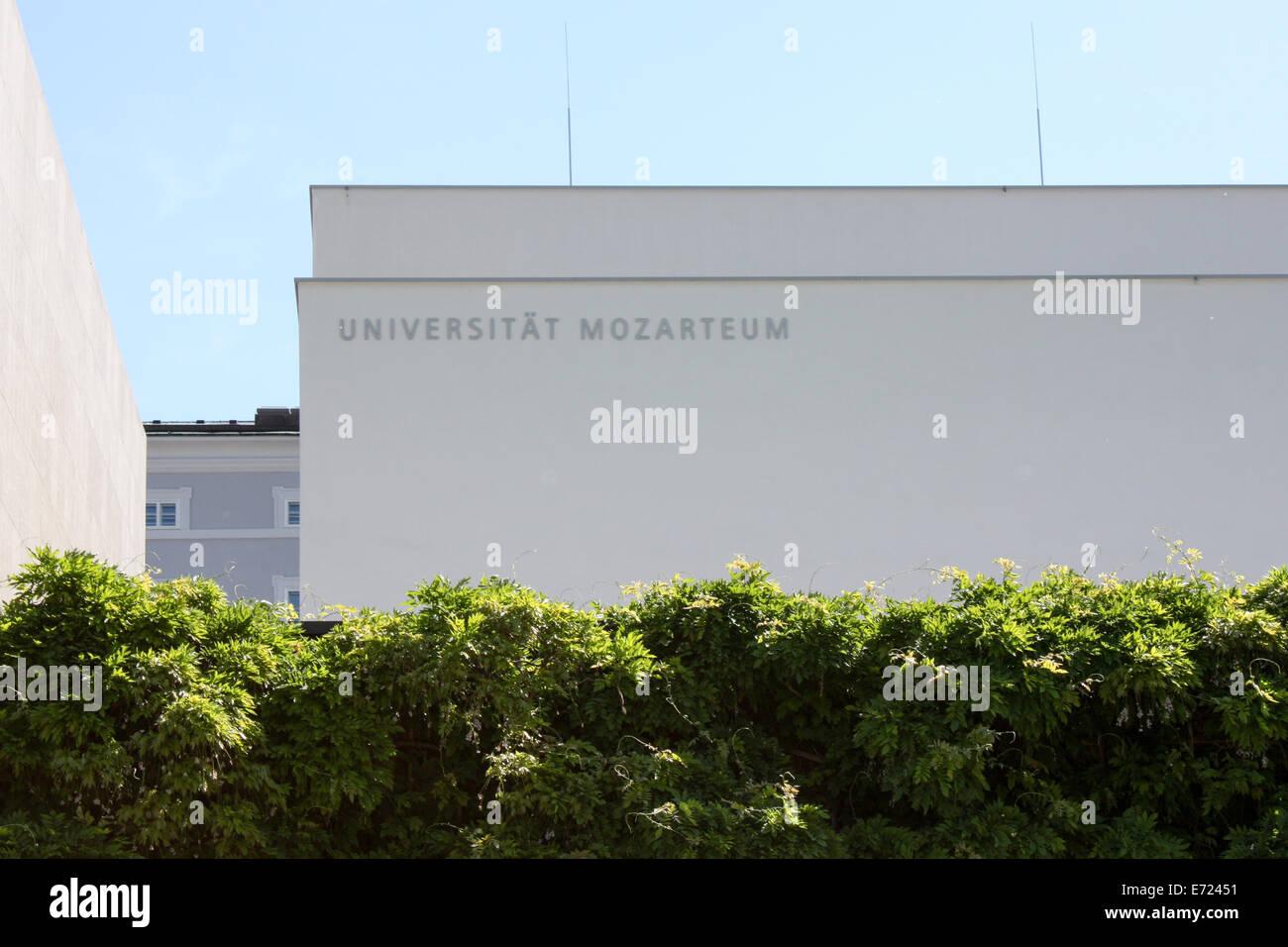 Austria: University Mozarteum in Salzburg. Photo from 17 May 2009. Stock Photo