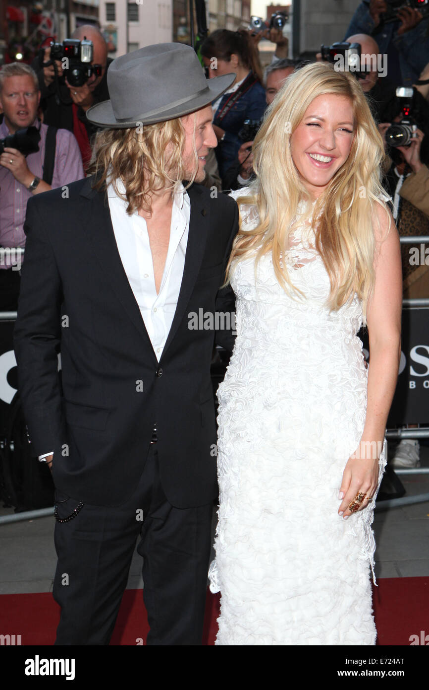 London, UK. 2nd Sep, 2014. Ellie Goulding and Dougie Poynter attend the GQ Men of the Year awards at The Royal Opera Stock Photo