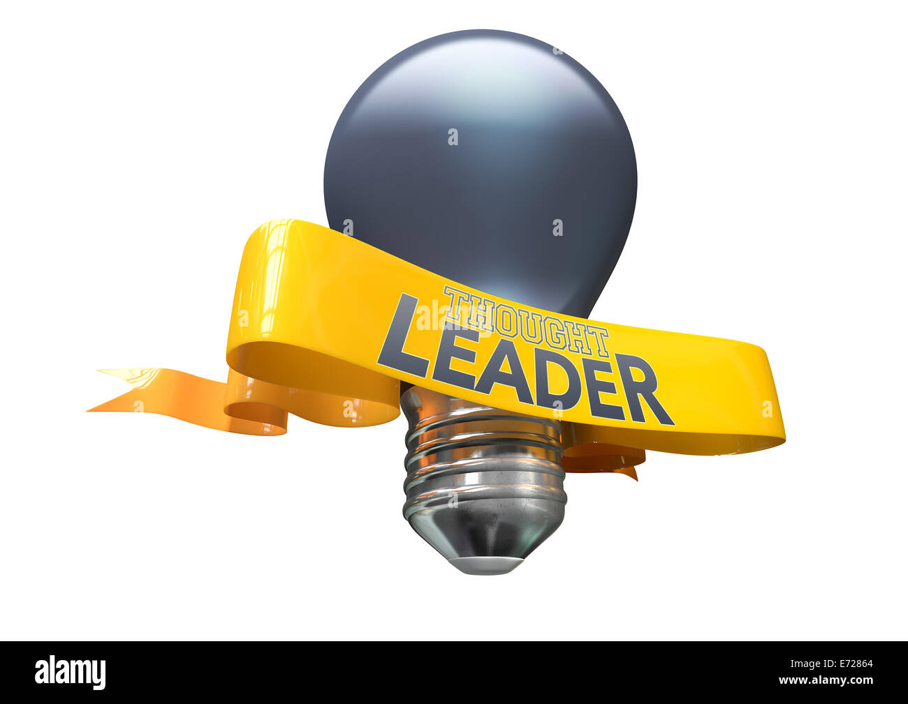 A Regular Blue Light Bulb With Shiny Yellow Banner And The Phrase Stock Photo 73194412 Alamy