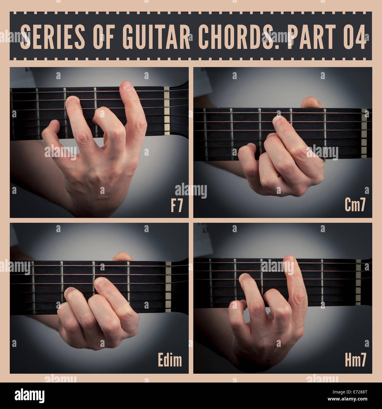 Guitar chords Stock Photo   Alamy