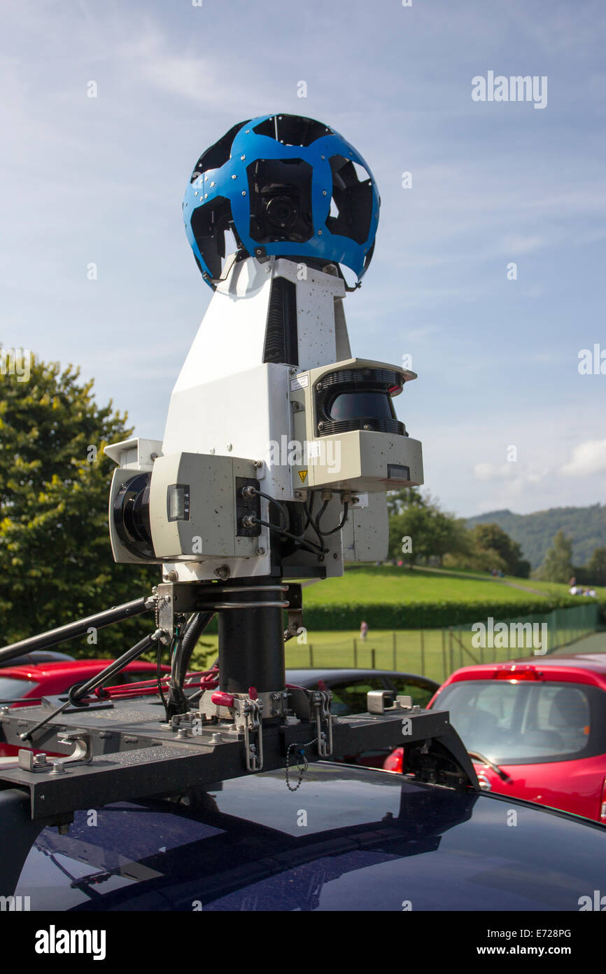 Google Maps Street View camera car in and around Windermere