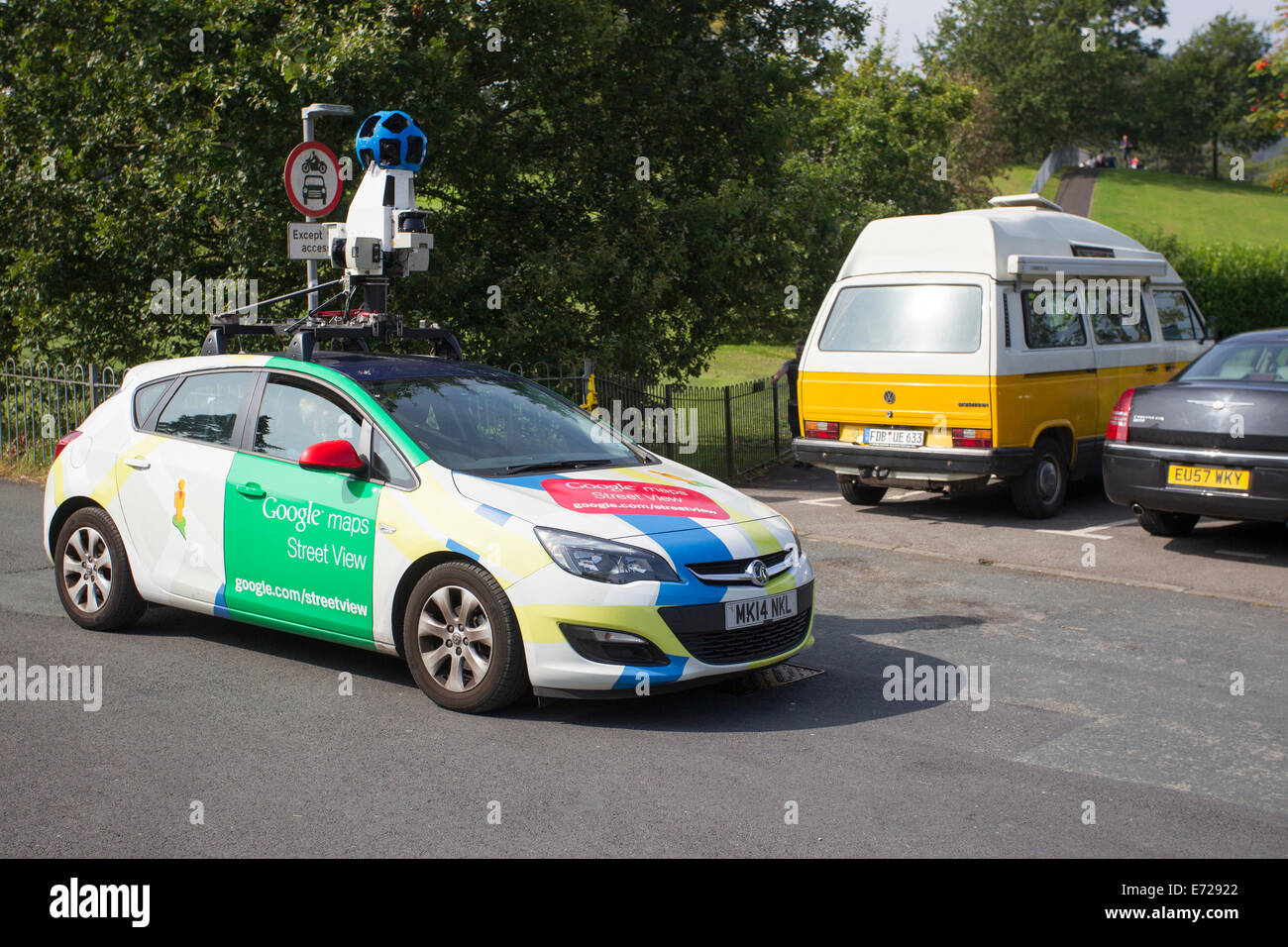 Google Maps Street View Camera Car In And Around Windermere Stock
