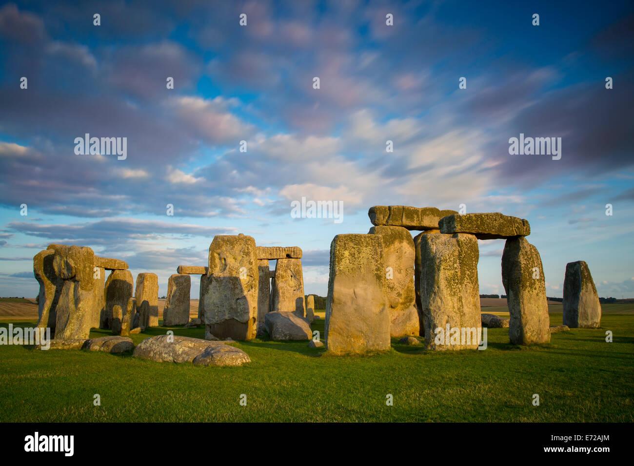 Sunset over Stonehenge, Wiltshire, England Stock Photo