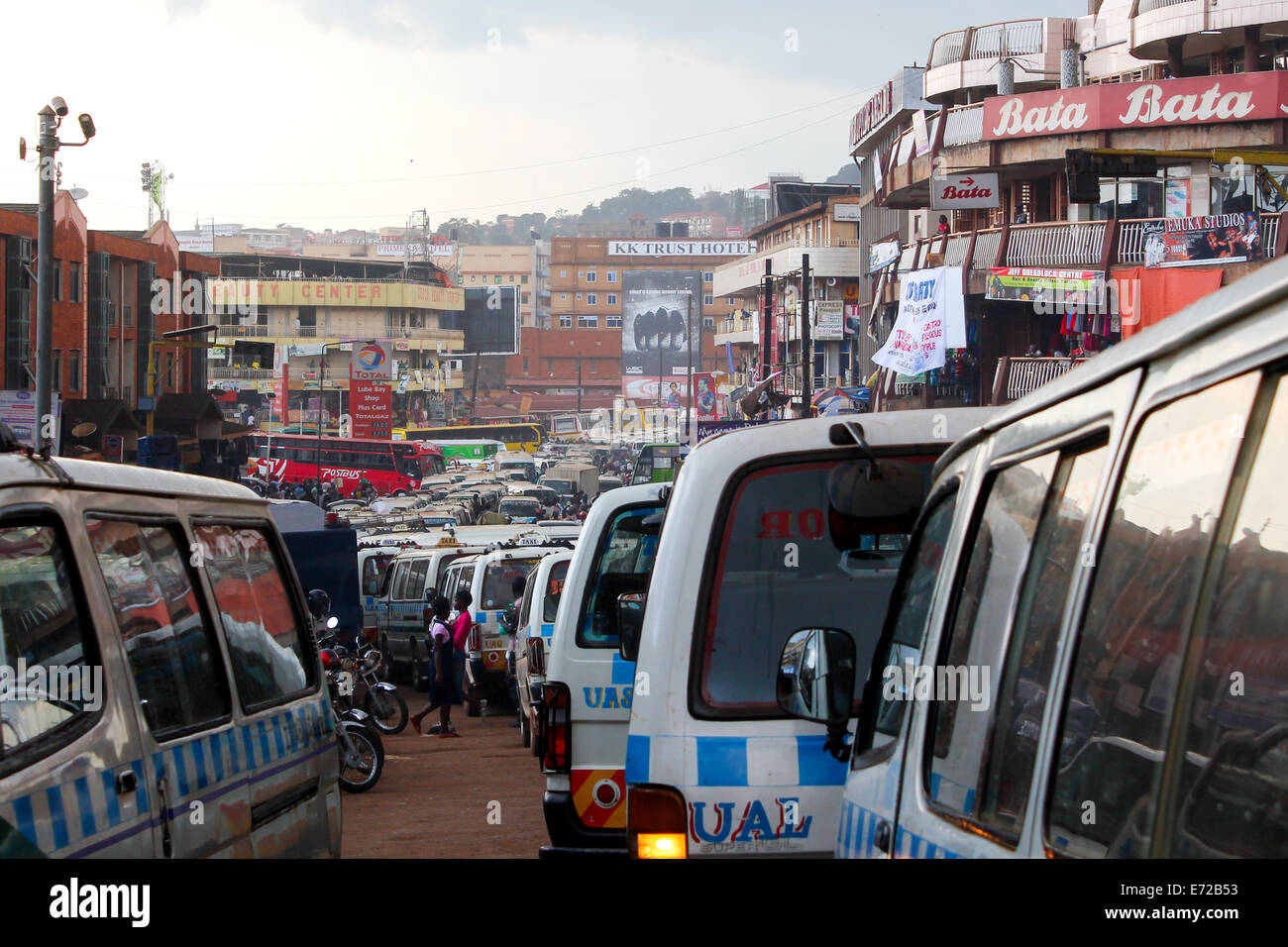 Rush hour in downtown Kampala. - Stock Image