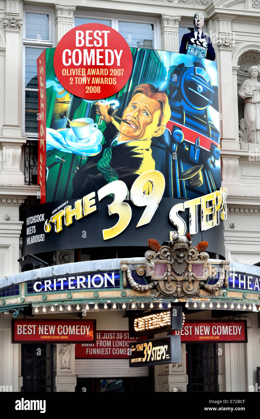 London, England, UK. The 39 Steps at the Criterion Theatre, Piccadilly Circus (2104) - Stock Image