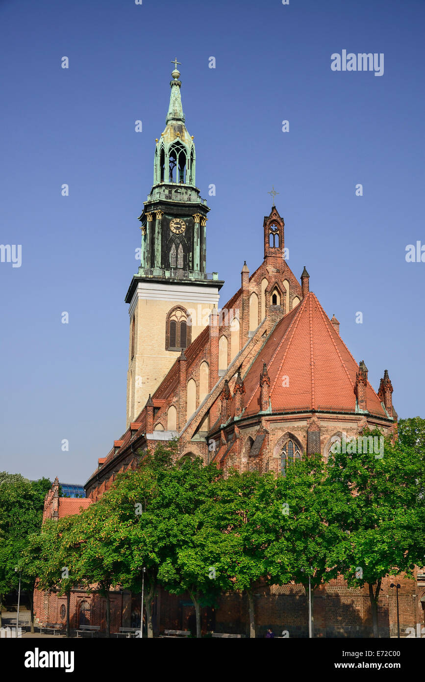 Germany, Berlin, Marienkirche  St Marys Church dating from the 13th Century. - Stock Image