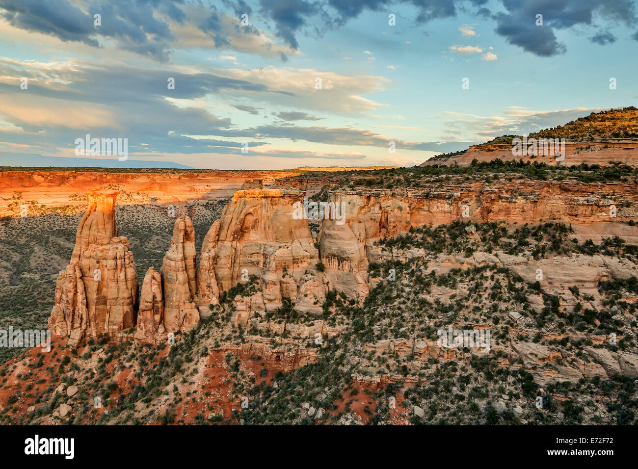 Sandstone monuments and formations, Colorado National Monument, Grand Junction, Colorado USA Stock Photo