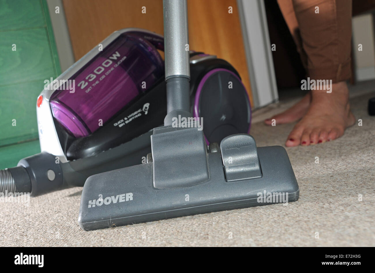 Carpet Nozzle Stock Photos Images Alamy Hoover Vacuum Wiring Diagram Powerful Pull Along Cleaner Being Used On Domestic In A Home