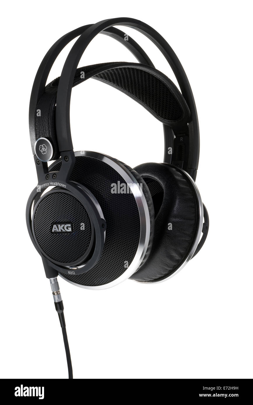 AKG K812 reference grade headphones. Superior quality listening product. - Stock Image