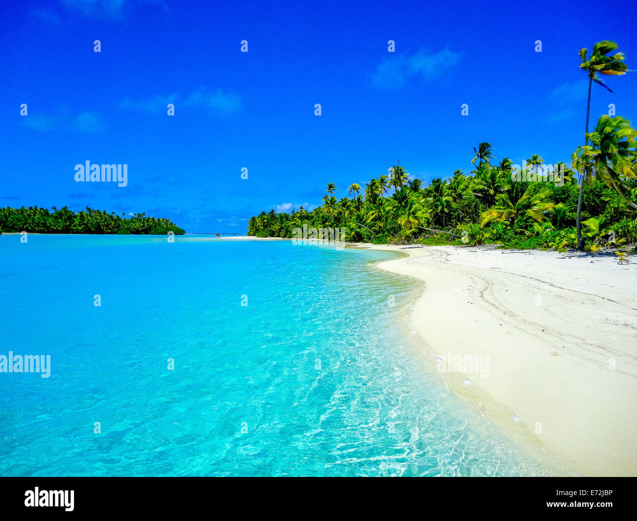 A picture of paradise in Aitutaki, The Cook Islands - Stock Image
