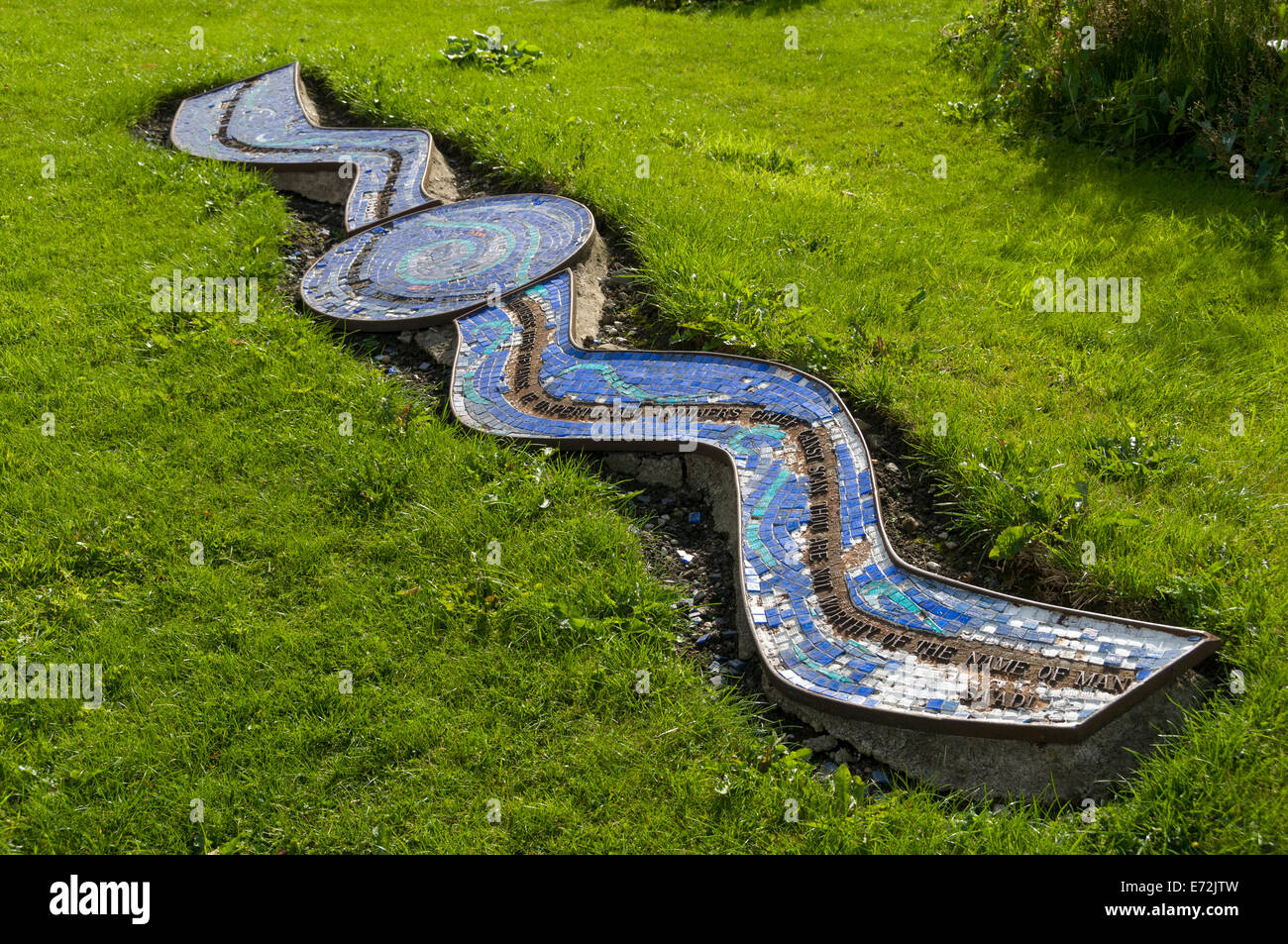 The 'River of Life' sculpture, Unity Gardens, Castlecroft Road, Bury, Greater Manchester, England, UK - Stock Image