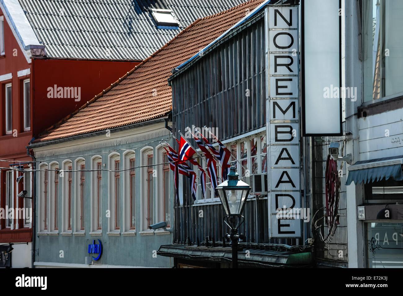 Norway, Stavanger. Norem Baade. - Stock Image