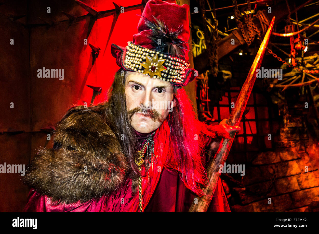 Vlad the Impaler at Madame Tussauds - Stock Image
