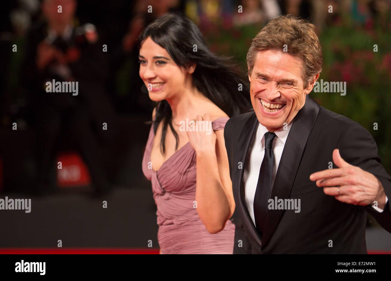 WILLEM DAFOE & WIFE GIADA COLAGRANDE PASOLINI. PREMIERE. 71ST VENICE FILM  FESTIVAL LIDO VENICE