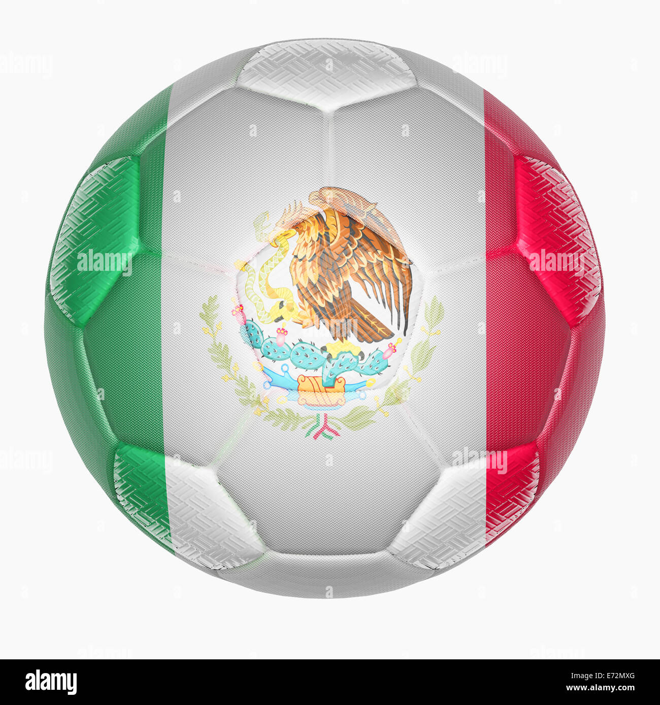 Soccer ball mapping with Mexico flag - Stock Image