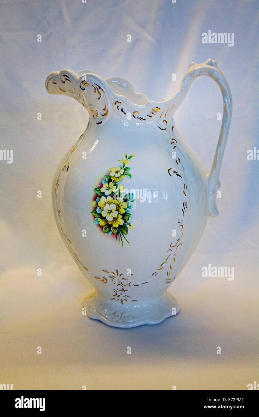 A beautiful porcelain pitcher from the early 20th century - Stock Image