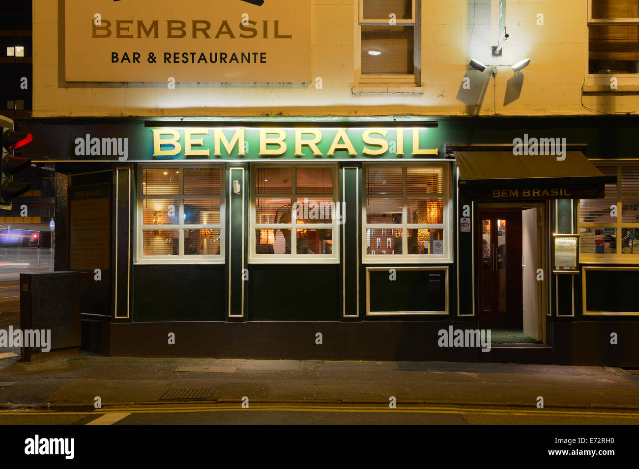 Bem Brasil bar and restaurant on Great Ancoats Street and Lever Street in the Northern Quarter, Manchester (Editorial - Stock Image