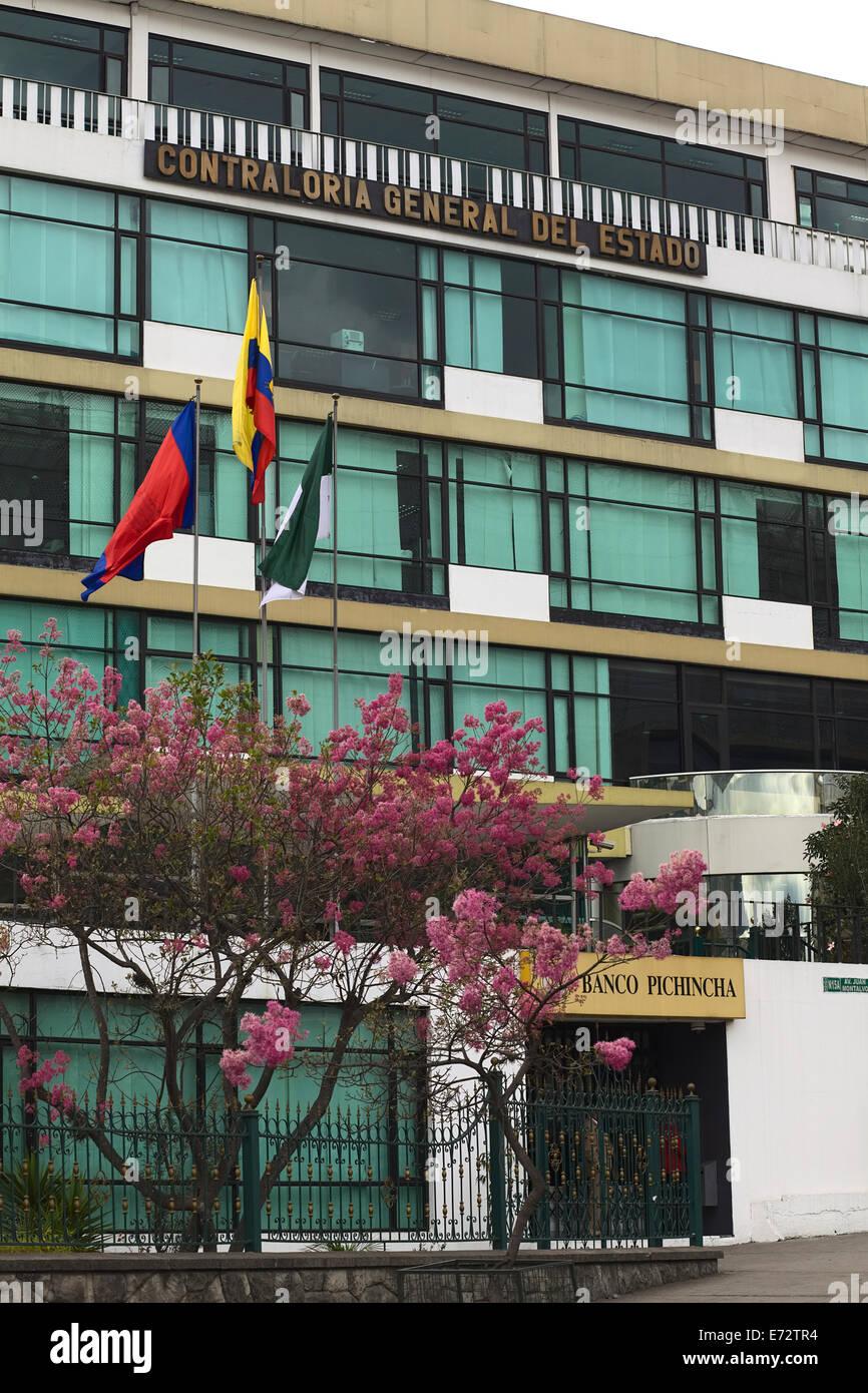 The building of the Contraloria General del Estado (Government Accountability Office) in Quito, Ecuador - Stock Image