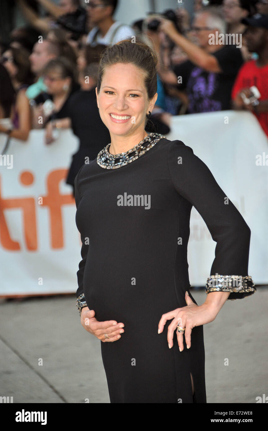 Toronto, Ontario, Canada. 4th Sep, 2014. Producer SUSAN DOWNEY attend 'The Judge' gala premiere during the - Stock Image