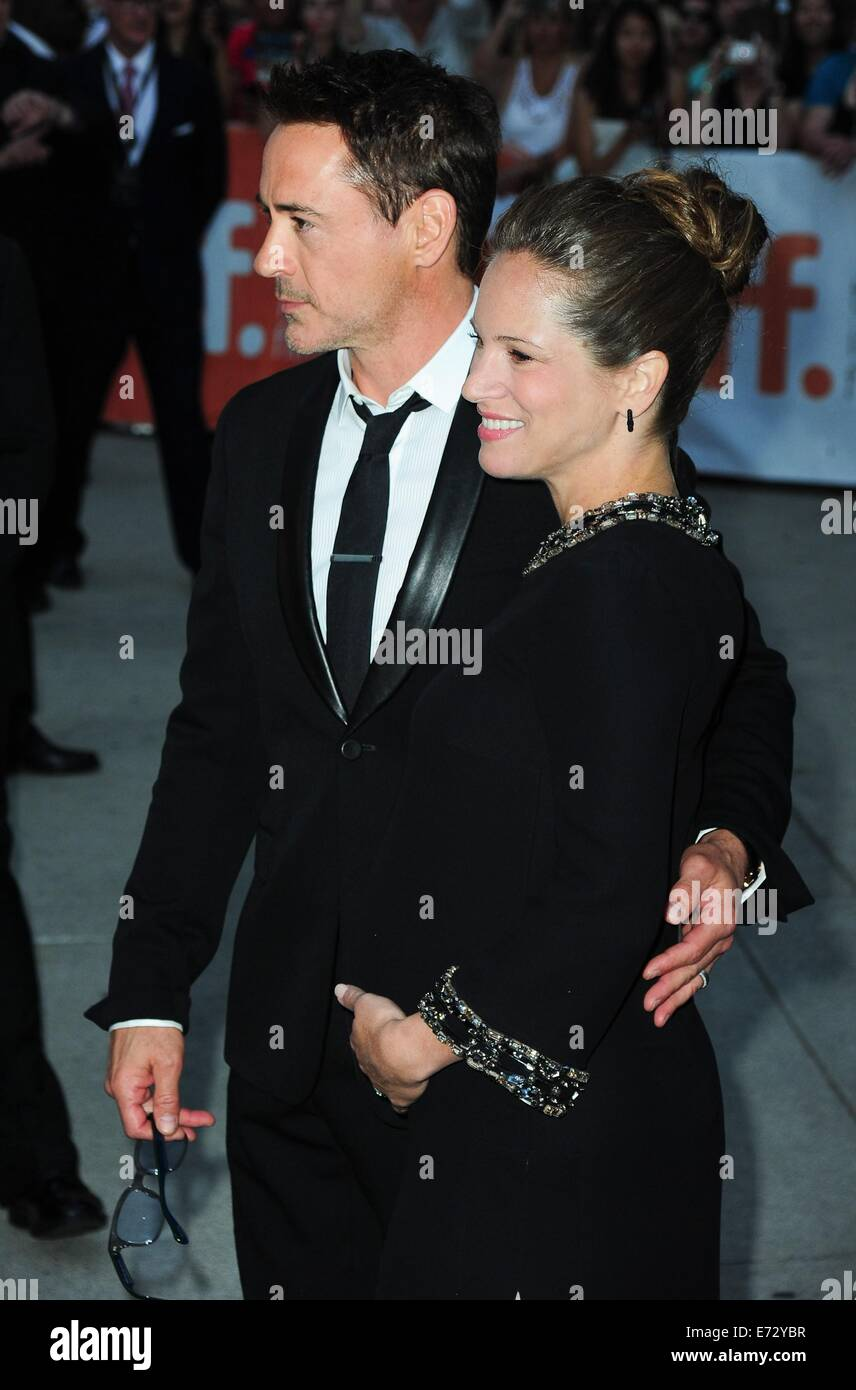 Toronto, CA. 4th Sep, 2014. Robert Downey Jr., Susan Downey at arrivals for THE JUDGE Premiere at the Toronto International Stock Photo