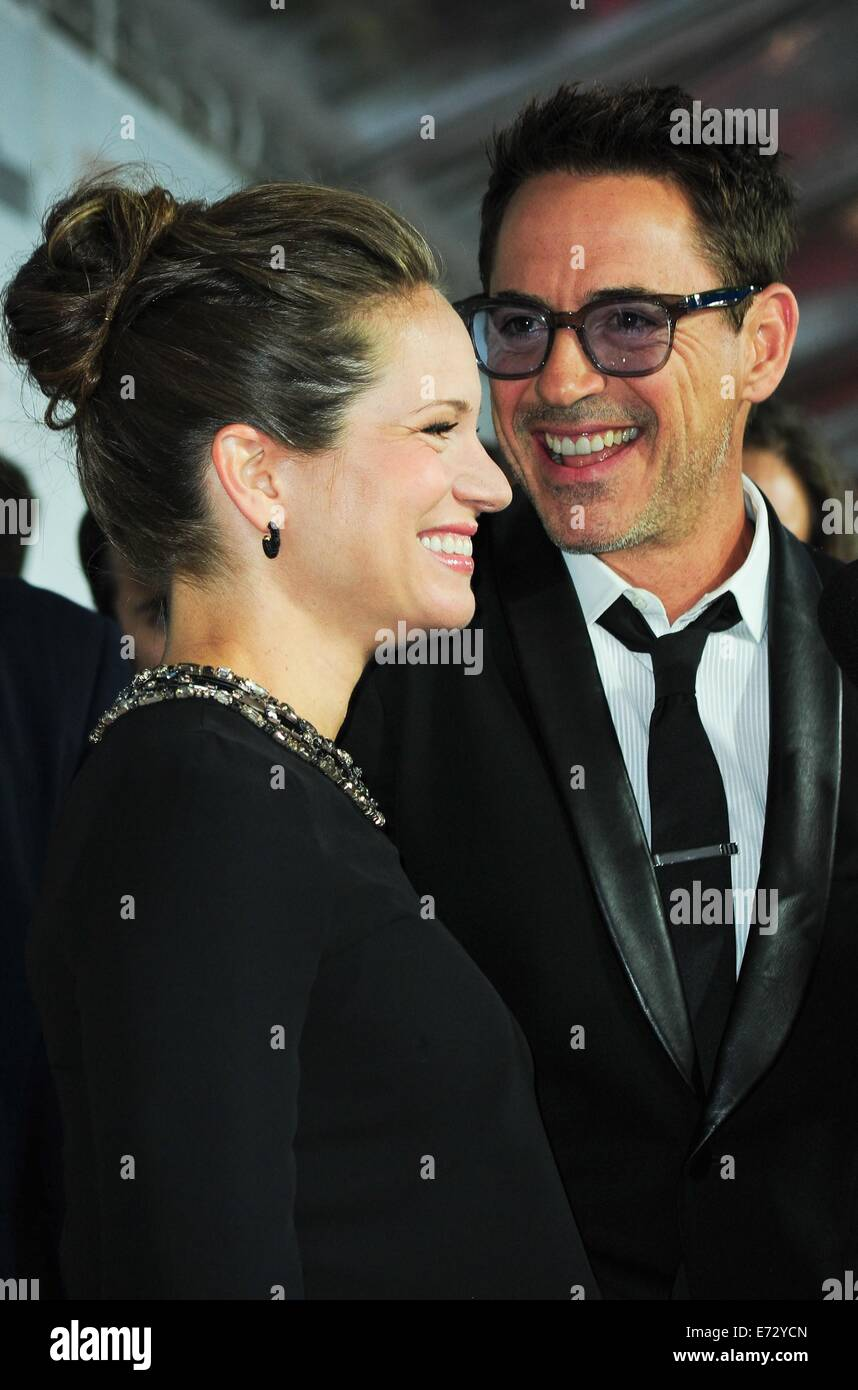 Toronto, CA. 4th Sep, 2014. Susan Downey, Robert Downey Jr at arrivals for THE JUDGE Premiere at the Toronto International - Stock Image