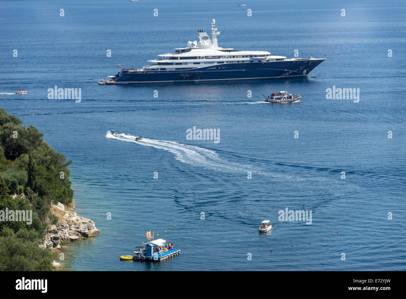 Cruising ship Corfu - Stock Image