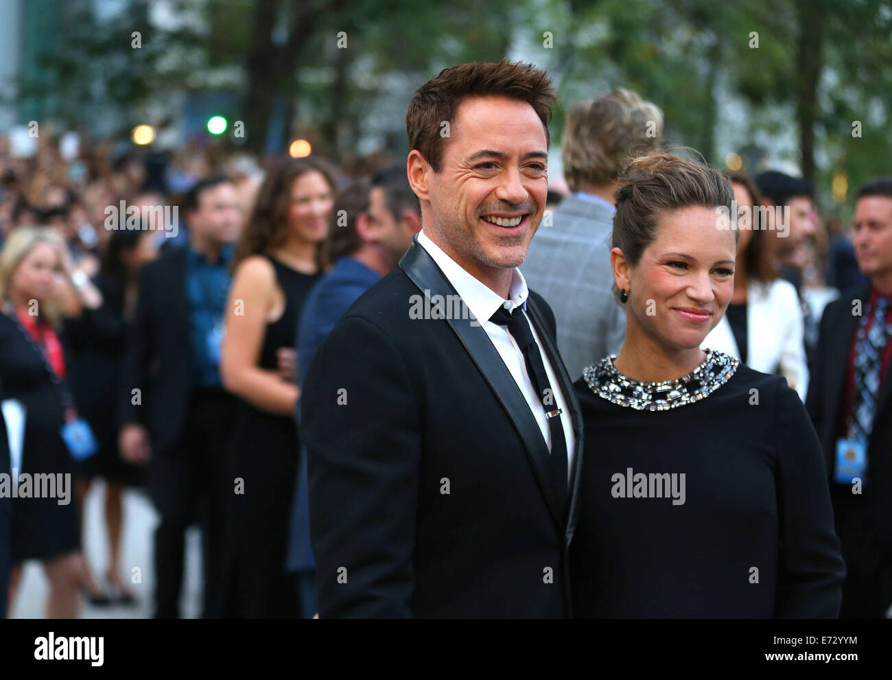 Toronto, Canada. 4th Sep, 2014. Actor Robert Downey Jr. and his wife Susan Downey arrive for the premiere of the - Stock Image
