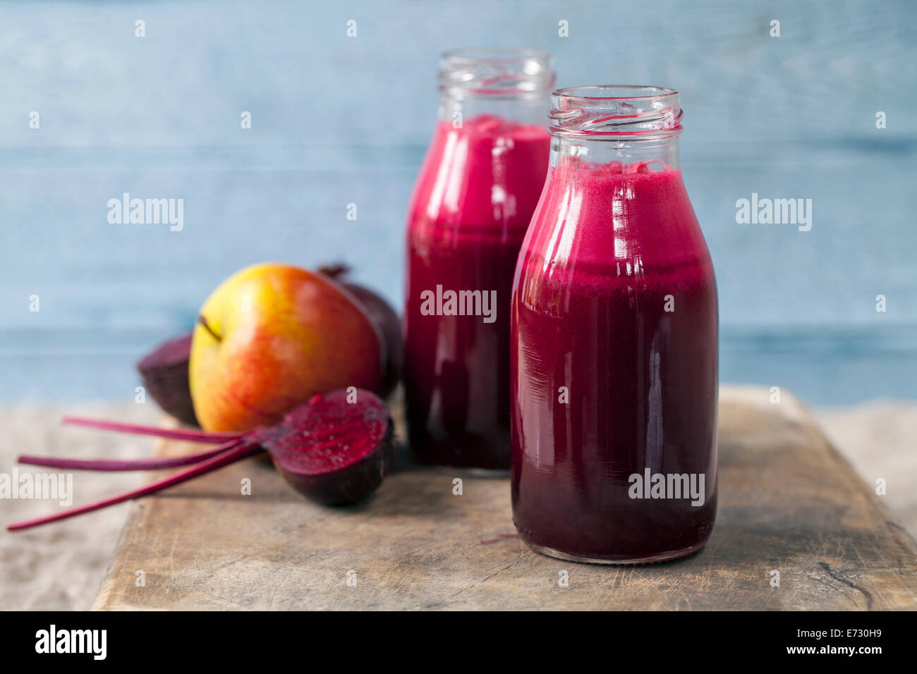 Beetroot and apple juice - Stock Image