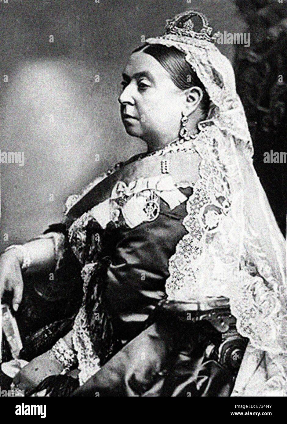 Queen Victoria during her Diamond jubilee. From the archives of Press Portrait Service (formerly Press Portrait - Stock Image