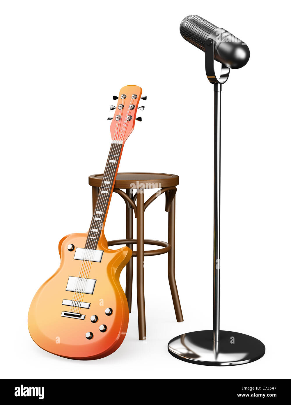 Fabulous Guitar Chair Cut Out Stock Images Pictures Alamy Onthecornerstone Fun Painted Chair Ideas Images Onthecornerstoneorg