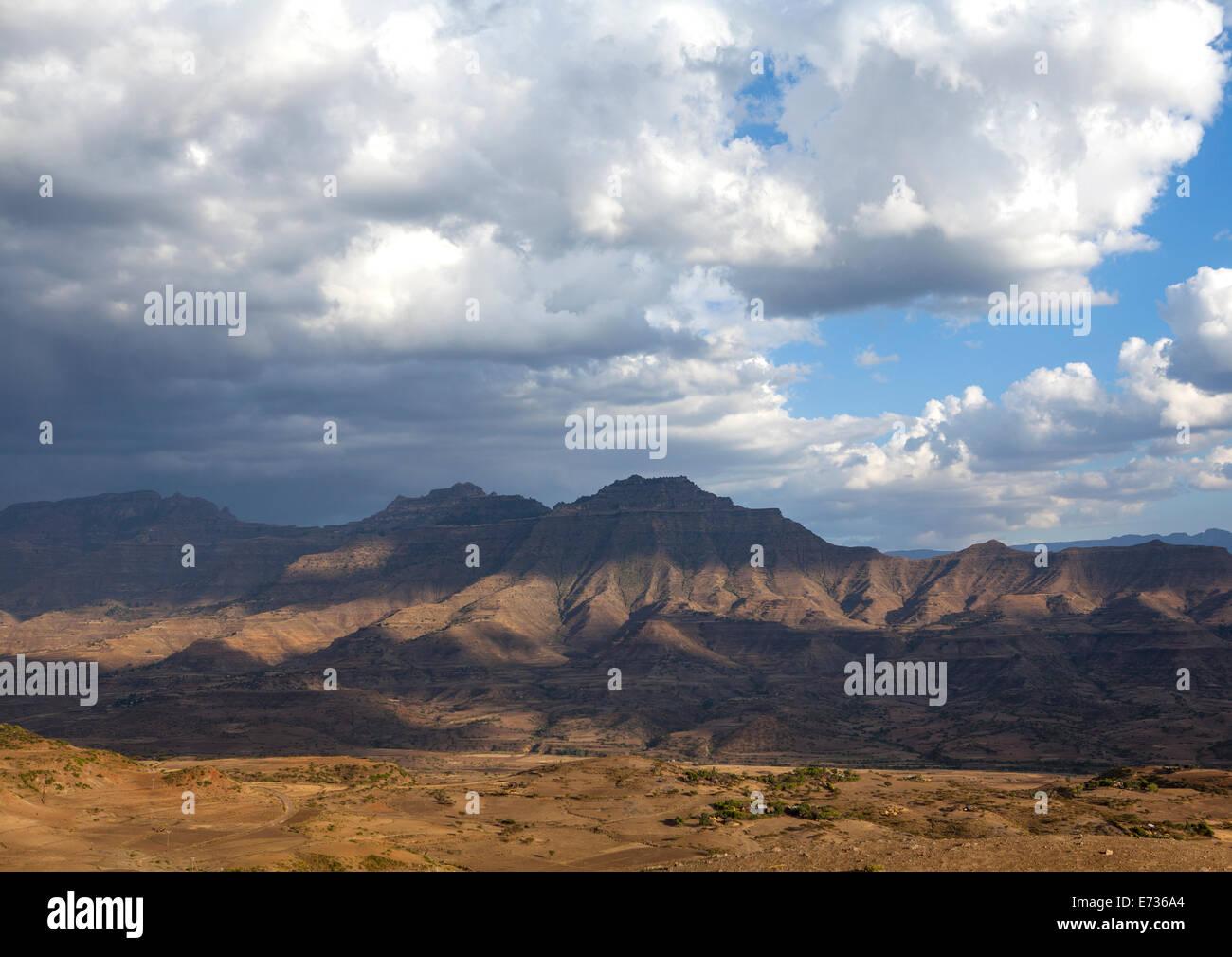 Highlands Landscape, Lalibela, Ethiopia - Stock Image