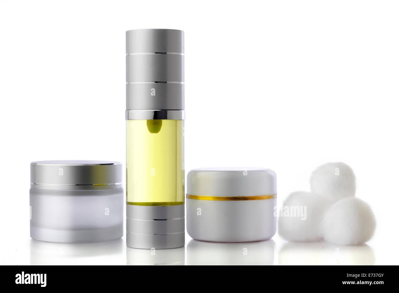perfume and fragrance bottle isolated on white - Stock Image