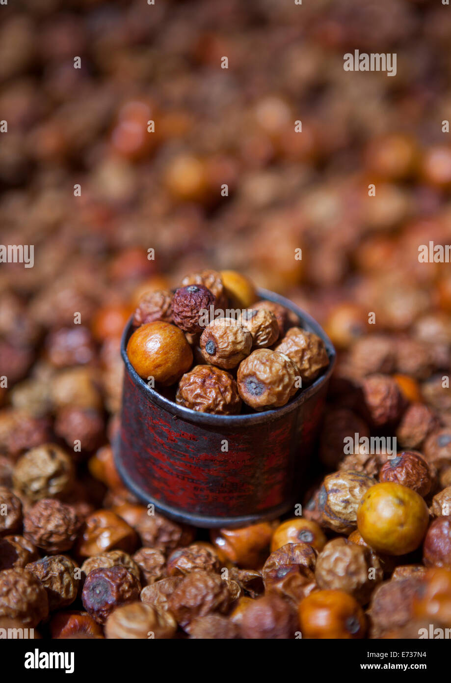 Dried Fruits Sold In Amarket, Harar, Ethiopia - Stock Image